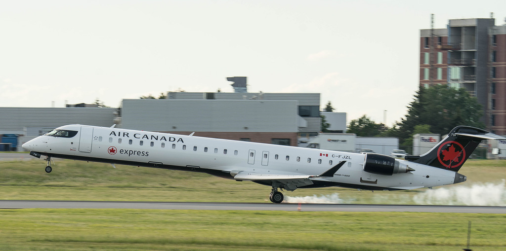 Canadair Bombardier CRJ900 C FJZL Air Canada Express operated by Jazz at Ottawa Macdonald–Cartier International Airport