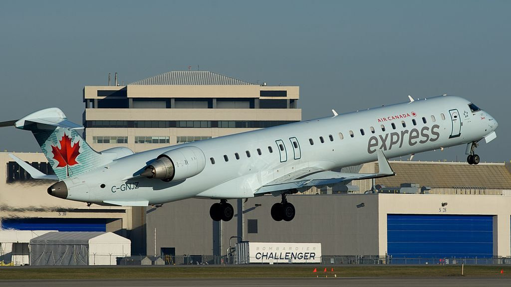 Canadair Bombardier CRJ900 of Air Canada Express Jazz C GNJZ at Montréal Pierre Elliott Trudeau International Airport