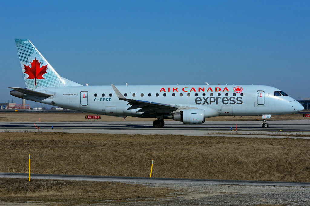 Embraer E175 C FEKD Air Canada Express operated by Sky Regional Airlines at Toronto Lester B. Pearson Airport YYZ