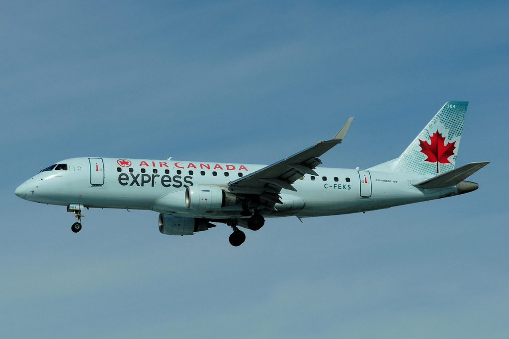 Embraer E175 C FEKS Air Canada express operated by Sky Regional Airlines at Toronto Lester B. Pearson Airport YYZ