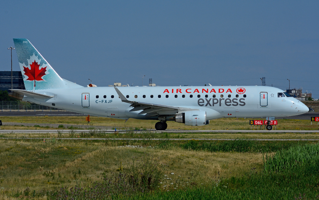 Embraer E175 operated by Sky Regional Airlines Air Canada Express C FXJF at Toronto Lester B. Pearson Airport YYZ