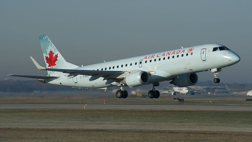 Embraer E190 of Air Canada C FHKP at Montréal Pierre Elliott Trudeau International Airport