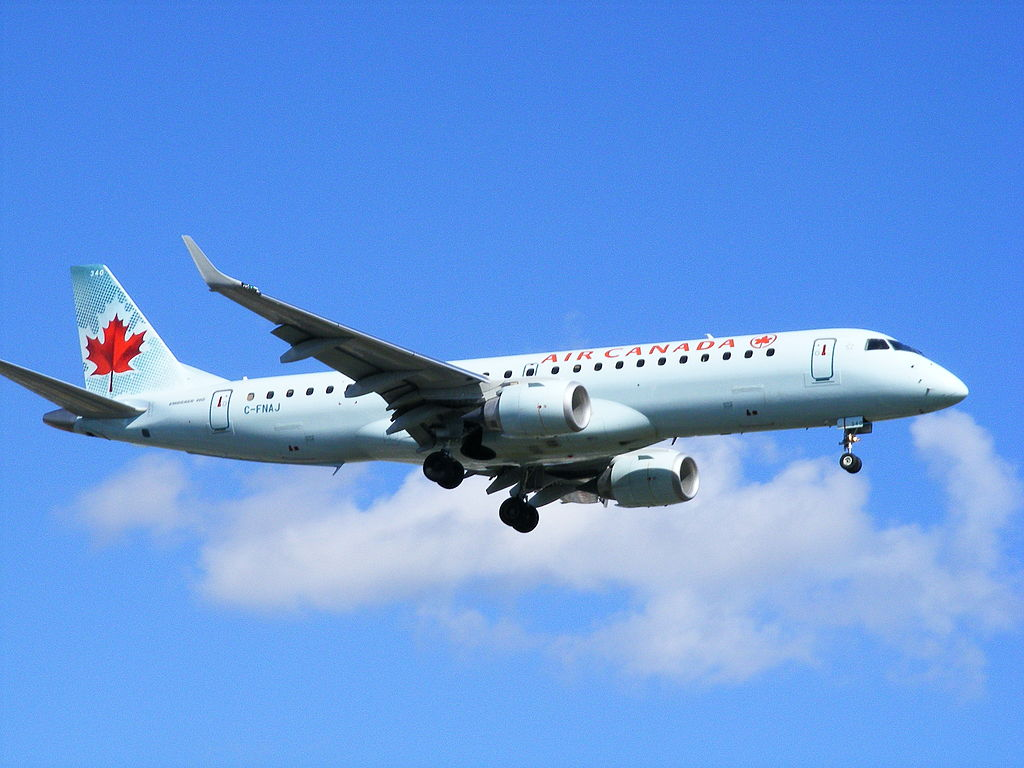 Embraer E190 of Air Canada C FNAJ at Montréal Pierre Elliott Trudeau International Airport