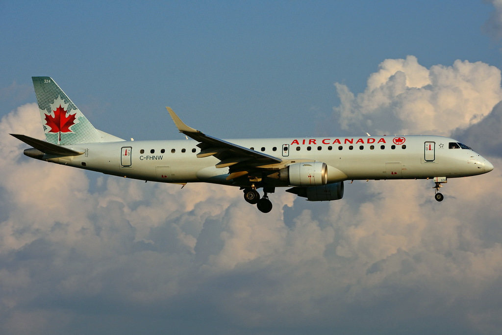 Embraer EMB 190 100HGW Air Canada C FHNW at Toronto Lester B. Pearson Airport YYZ