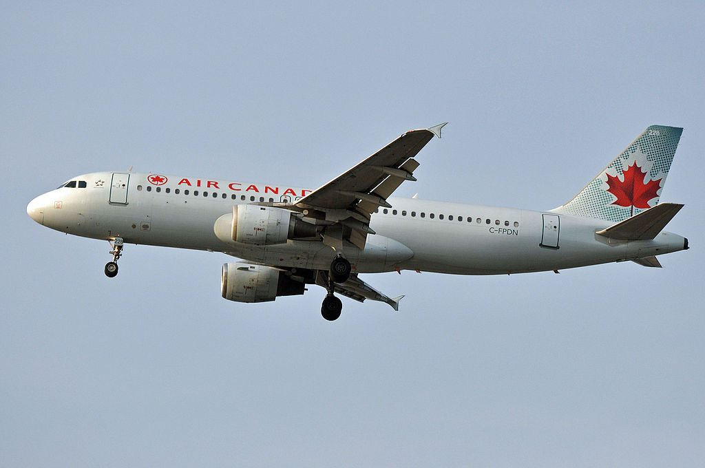 MSN 341 A320 211 AIR CANADA C FPDN YVR AIRPORT