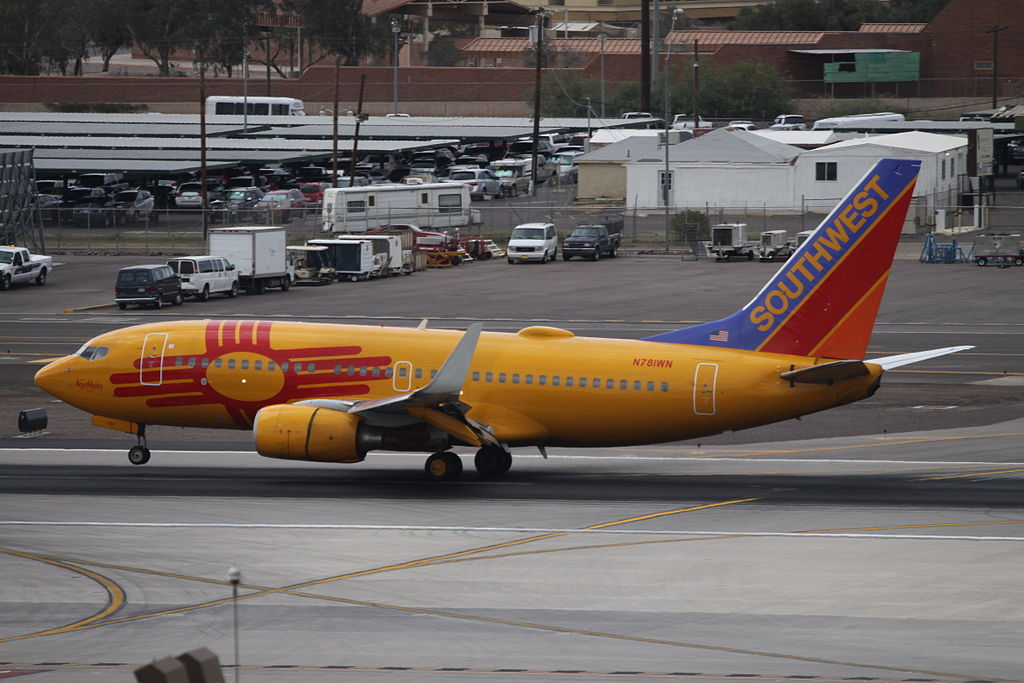 N781WN Boeing 737 700 Southwest Airlines In New Mexico One Livery Colours at Phoenix Sky Harbor International