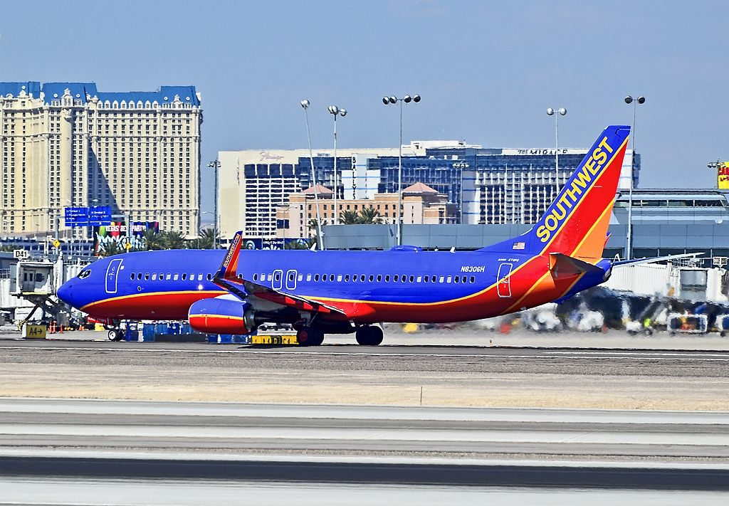 N8306H Southwest Airlines Boeing 737 8H4 at McCarran International LAS KLAS