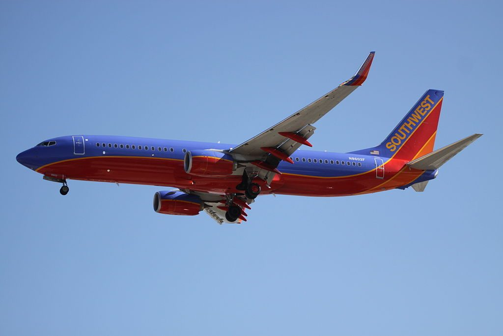 N8602F Boeing 737 800 Southwest Airlines Narrow Body Aircraft