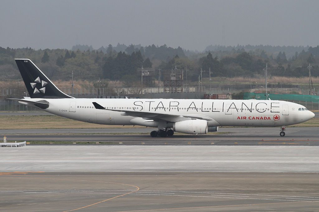 Narita International Airport Airbus A330 343X cn 419 Air Canada C GHLM on STAR ALLIANCE Livery