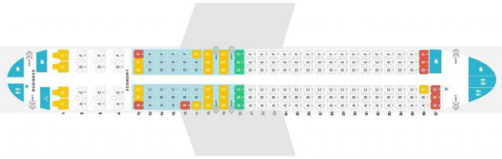 Seat Map and Seating Chart Boeing 737 MAX 8 7M8 Air Canada