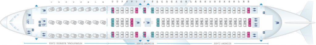 Seat Map and Seating Chart Boeing 767 300ER Air Canada