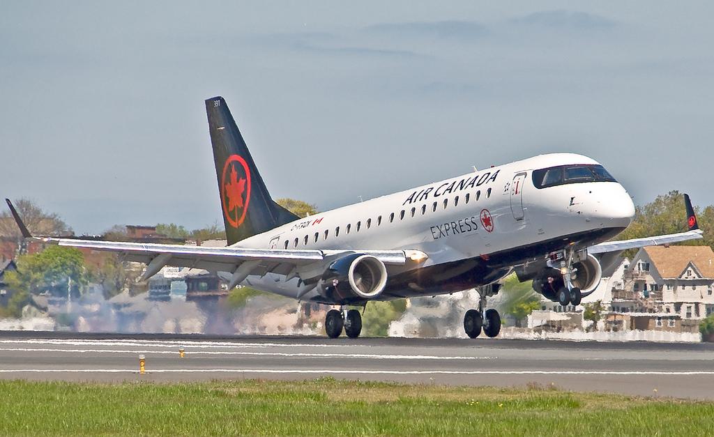 Sky Regional Airlines C FRQK Air Canada Express Embraer E175 at Boston Logan International Airport