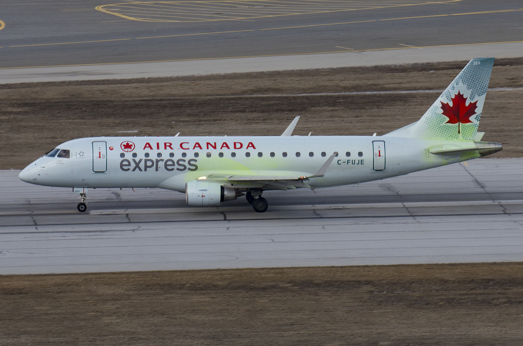 Sky Regional Airlines C FUJE Air Canada Express Embraer E175 at YYZ
