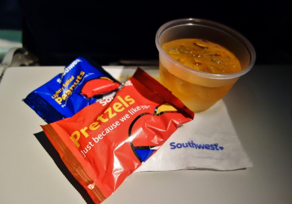 Southwest Airlines Aircraft Boeing 737 700 Inflight Amenities Snacks and Drinks Services