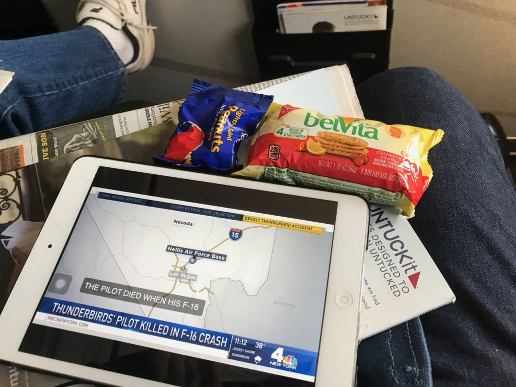 Southwest Airlines Boeing 737 700 Economy Cabin Inflight Buy on Board Snacks Services