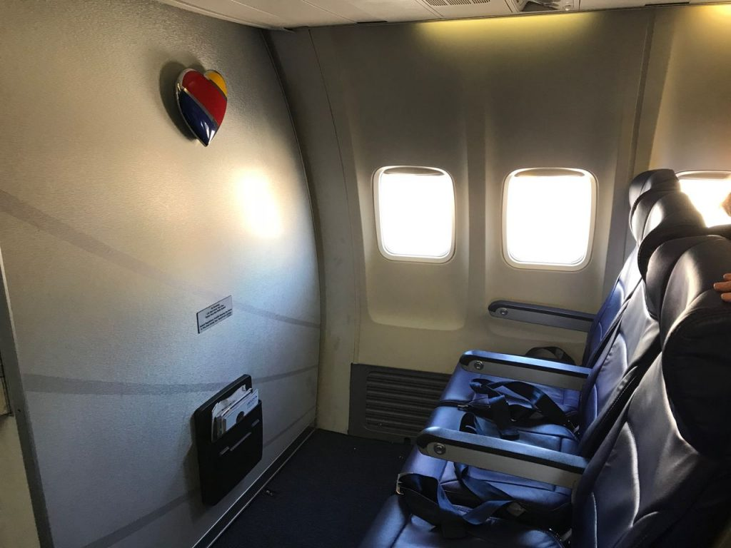 Southwest Airlines Boeing 737 700 Economy Cabin Interior Bulkhead Seats Row with Extra Legroom Photos