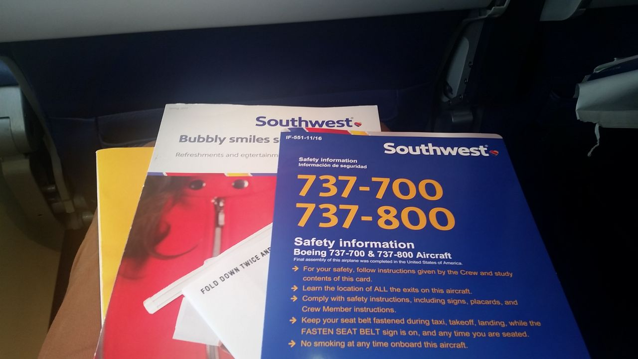 Southwest Airlines Boeing 737 700 Economy Cabin Seatback Content Photos