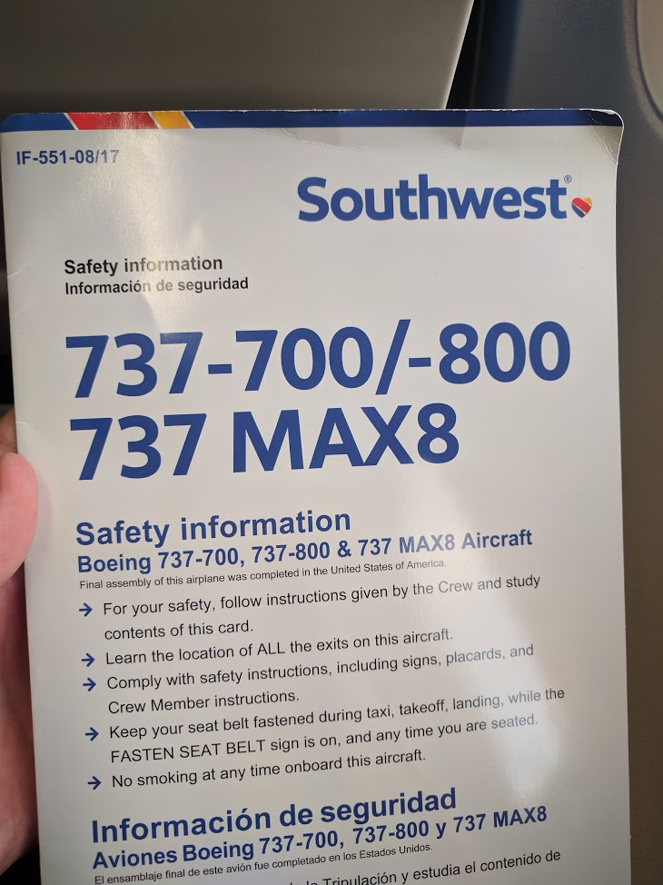 Southwest Airlines Boeing 737 700 Safety Information Paper