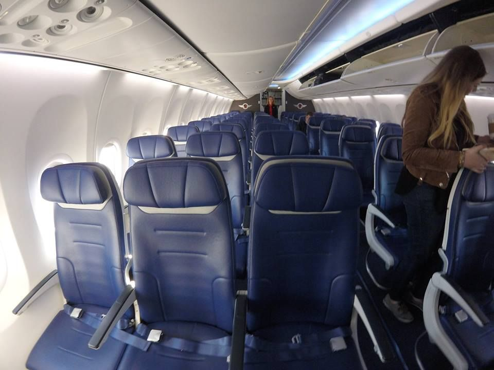 Southwest Airlines Fleet Boeing 737 800 Economy Cabin Retrofit Interior Blue Seats Configuration
