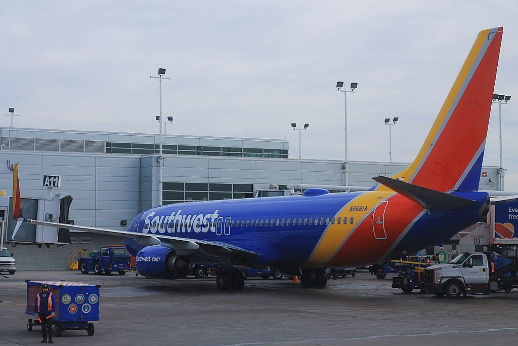 Southwest Airlines Fleet N8661A Boeing 737 800 at Chicago Midway International Airport