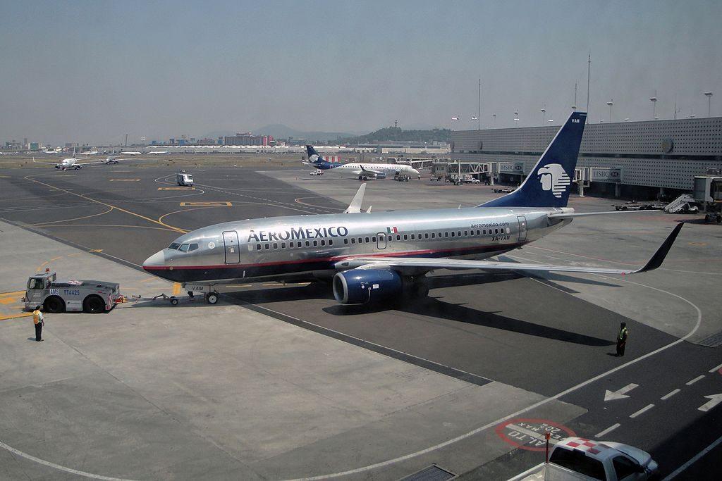 AeroMexico Boeing 737 752 XA VAM pushed back at Mexico City Licenciado Benito Juarez International