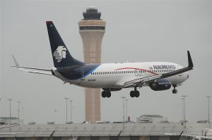 AeroMexico Boeing 737 800 N520AM on short final before landing at Miami International Airport MIA