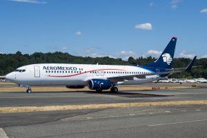 Aeromexico 737 800 XA AMU at Boeing Field KBFI