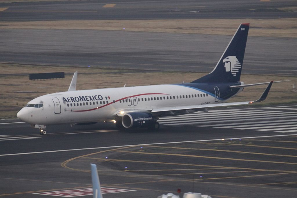 Aeromexico Boeing 737 800 EI DRC at Mexico City International Airport