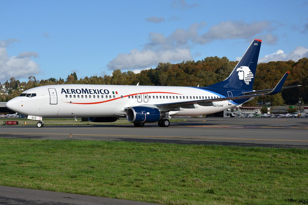 Aeromexico Boeing 737 800 N875AM at Boeing Field King County International Airport