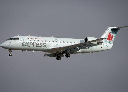 Air Canada Express Air Georgian Bombardier Canadair CRJ 100 C FWJI at Toronto Pearson International Airport