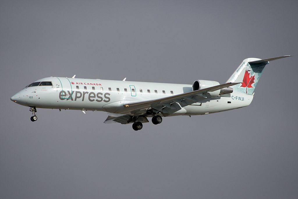 Air Canada Express Air Georgian Bombardier Canadair CRJ 100 C FWJI at Toronto Pearson International Airport