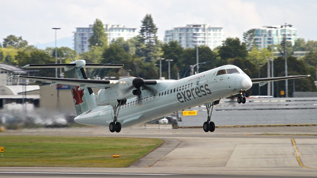 Air Canada Express C GGND Bombardier Q400 operated by Jazz at Vancouver International Airport