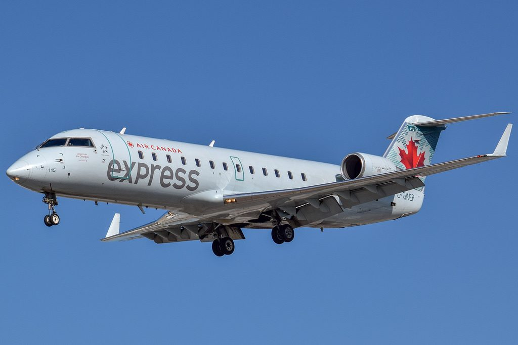 Air Canada Express C GKEP Bombardier CRJ200ER operated by Air Georgian at Toronto