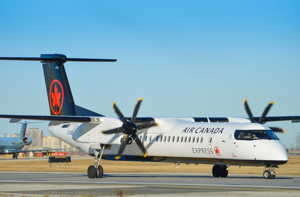 Air Canada Express Jazz Bombardier Q400 C GGAH at Toronto Pearson International Airport