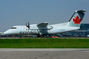 Air Canada Express Jazz C GONW Bombardier Dash 8 100 at YYZ Airport