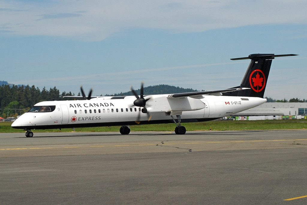 Air Canada Express Jazz C GYJZ Bombardier Dash 8 Q400 at Victoria Airport