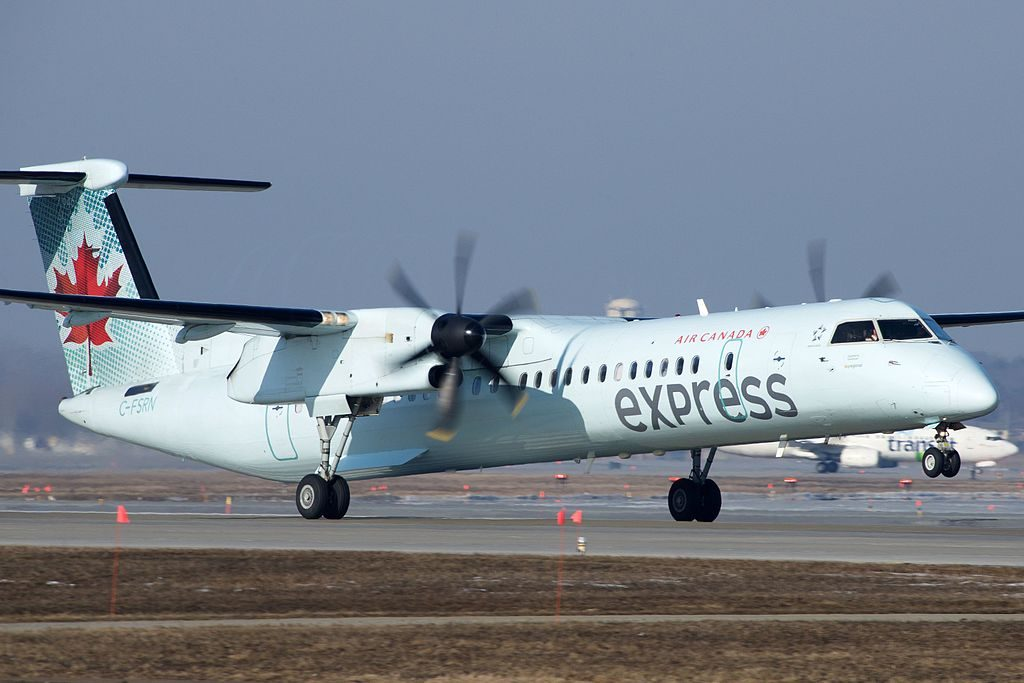 Air Canada Express Skyregional Bombardier Dash 8Q400 C FSRN at Montréal Pierre Elliott Trudeau International Airport