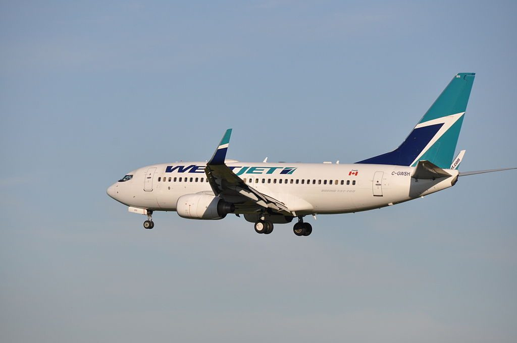 Boeing 737 700 of WestJet C GWSH at Montréal Pierre Elliott Trudeau International Airport