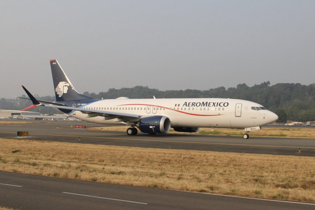 Boeing 737 Max 8 Aeromexico Aircraft Fleet XA MAO departing BFI on delivery flight
