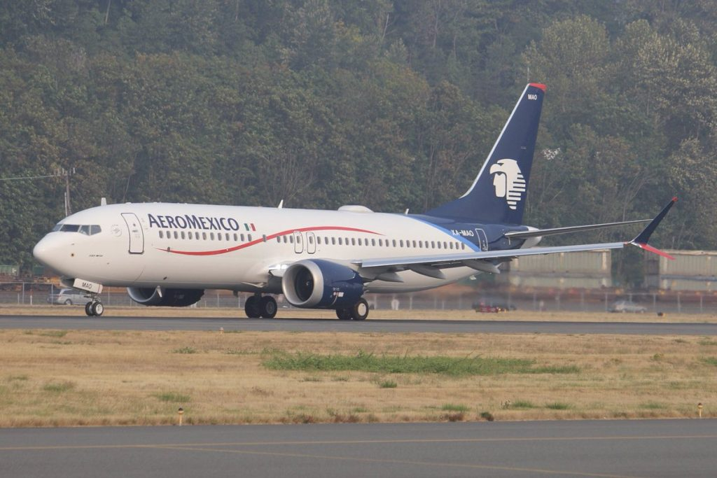 Boeing 737 Max 8 Aeromexico XA MAO departing BFI on delivery flight