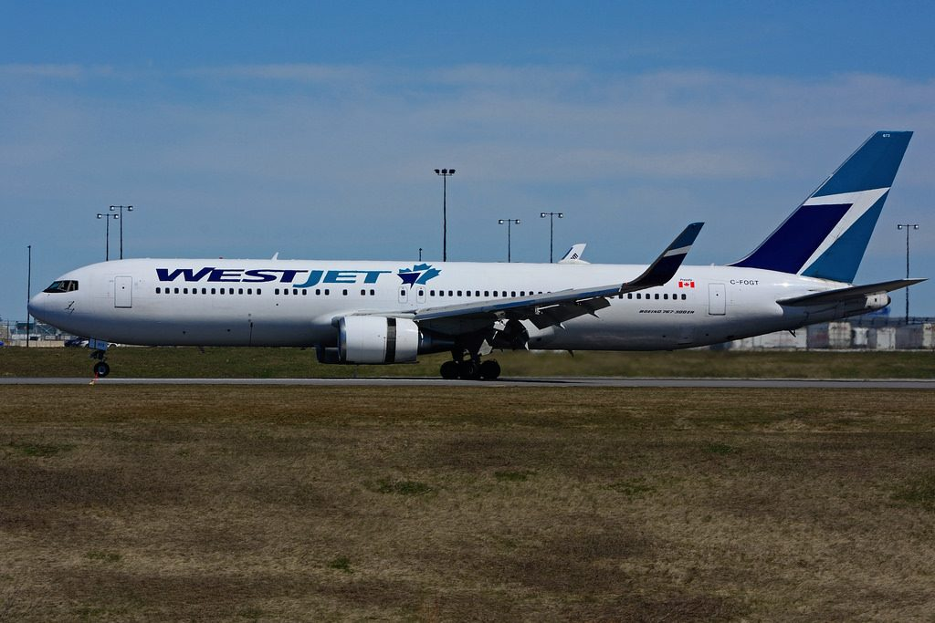Boeing B767 338ERW WestJet C FOGT at Toronto Lester B. Pearson Airport YYZ