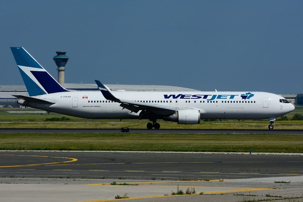 Boeing B767 338ERW WestJet C FWAD at Toronto Lester B. Pearson Airport YYZ