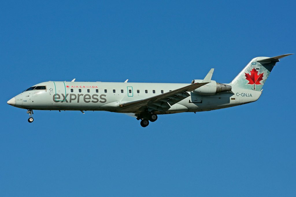 Bombardier Canadair CRJ 200ER Air Canada Express C GNJA operated by Air Georgian at Toronto Lester B. Pearson Airport YYZ