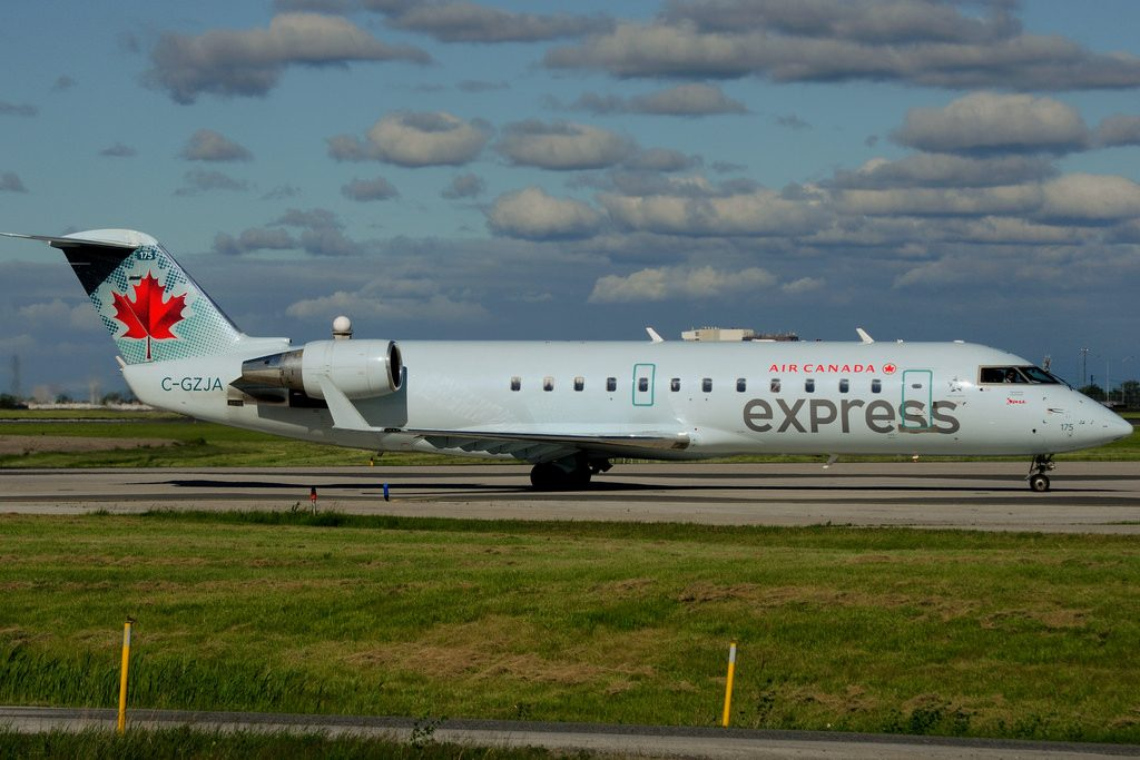 Bombardier Canadair CRJ 200ER Air Canada express C GZJA operated by JAZZ at Toronto Lester B. Pearson Airport YYZ