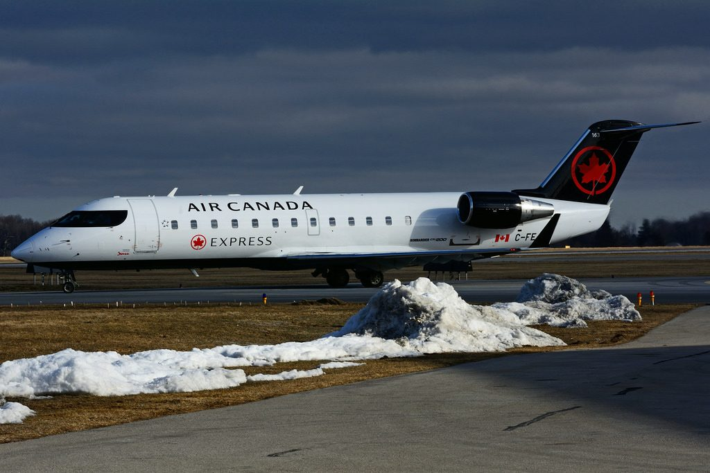 Bombardier Canadair CRJ 200ER C FEJA Air Canada Express operated by JAZZ Aviation at Hamilton International Airport YHM