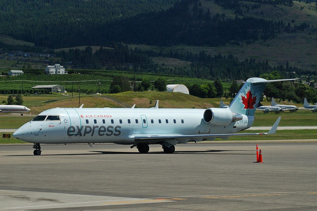 Bombardier Canadair CRJ200 Air Canada Express C FFJA at Victoria Airport
