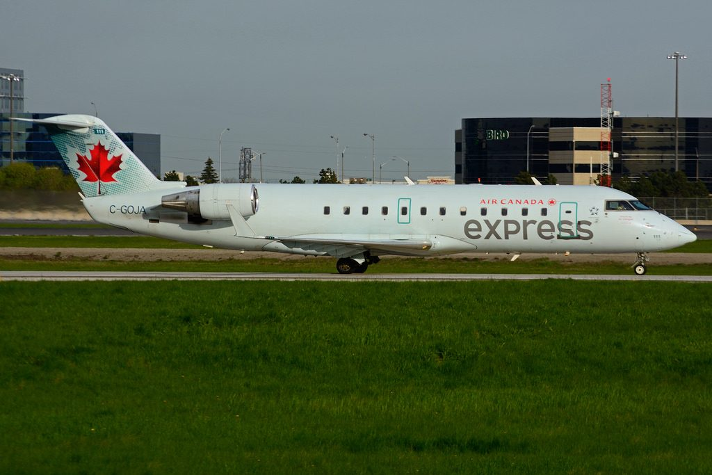 Bombardier Canadair CRJ200ER C GOJA Air Canada Express operated by Air Georgian at Toronto Lester B. Pearson Airport YYZ