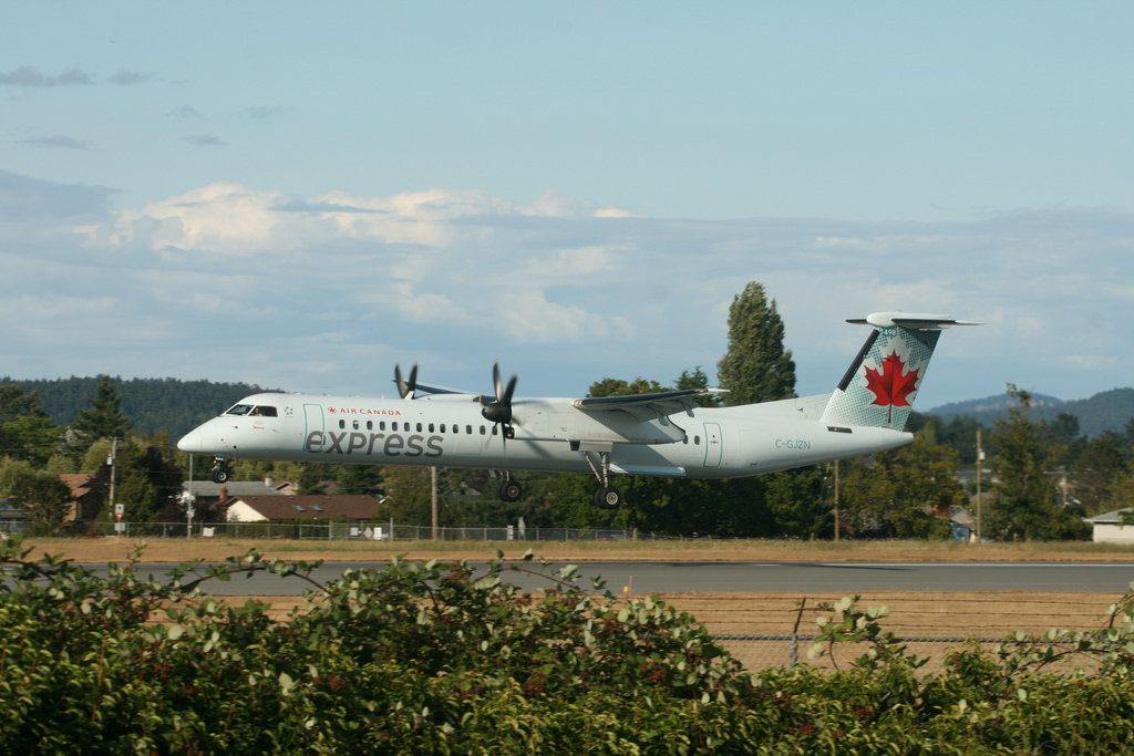 Bombardier Dash 8Q 402 Jazz Aviation Air Canada Express C GJZN at Victoria International YYJ