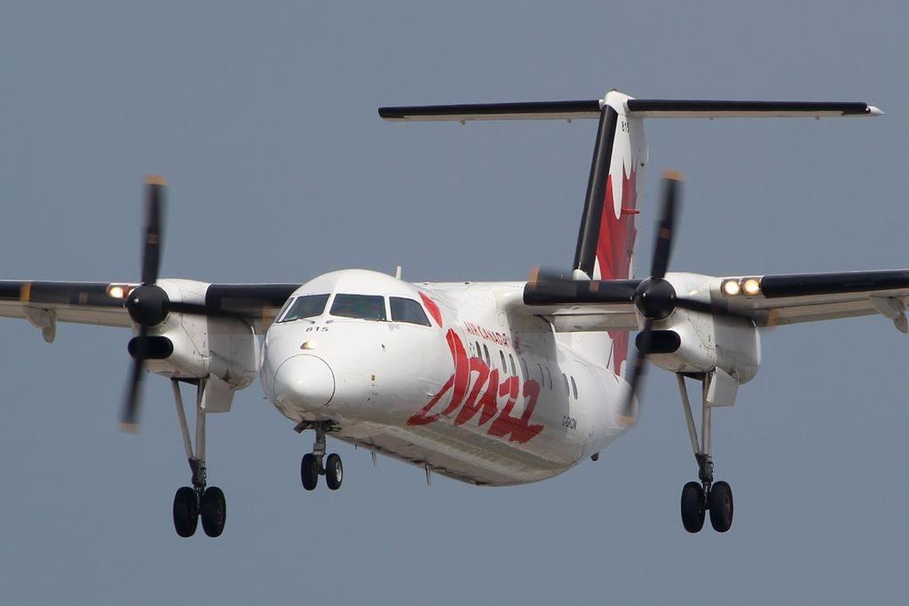 Bombardier De Havilland Canada DHC 8 102 Air Canada Express Jazz C GKON at Toronto Pearson International Airport