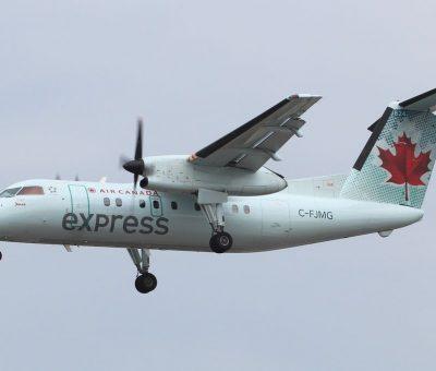 Bombardier De Havilland Canada DHC 8 102A Air Canada Express Jazz C FJMG
